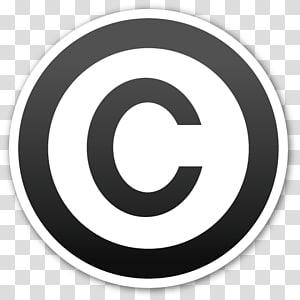 Copyright symbol Emoji Sticker, copyright PNG clipart