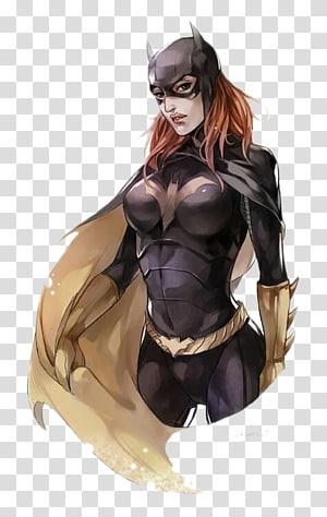 Batgirl Barbara Gordon Killer Croc Batman Joker, Black Bat Woman PNG