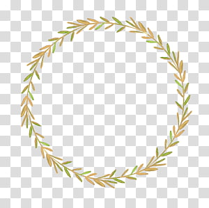 round green and brown weed frame illustration, Autumn leaf color Flower, Leaf wreath PNG clipart
