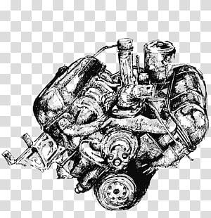 Car Automotive engine Visual arts, Automotive engine design PNG