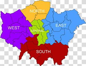 South London North London East London London Plan Royal Borough of Greenwich, map PNG clipart