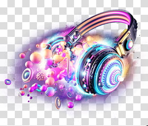 luminous headphones PNG