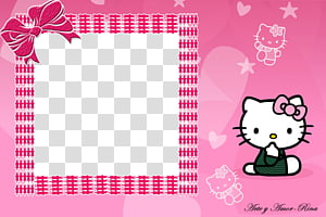 Hello Kitty frame border, Hello Kitty Frames Graphic design, hello PNG clipart