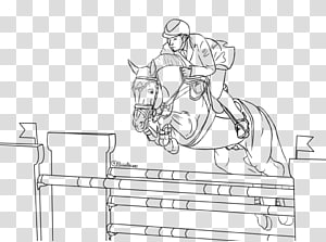 Horse Show jumping Equestrian Coloring book, horse riding PNG
