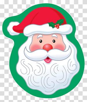 cartoon santa claus head PNG clipart