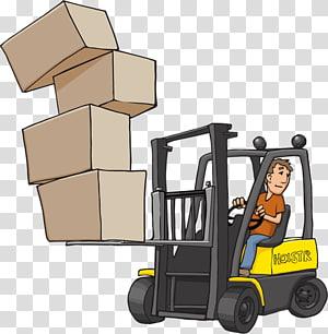 Motor vehicle Machine Forklift, design PNG