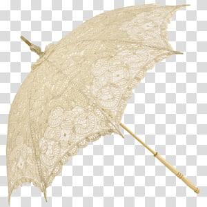 Umbrellas & Parasols Cream Lace White, umbrella PNG