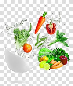 Leaf vegetable Lasagne Fruit Food, Dynamic wave bowl of fresh vegetables PNG