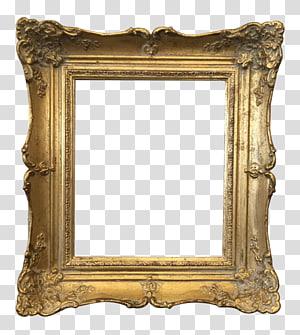 square brown wooden frame, Frames Gold Vintage clothing , vintage frame PNG