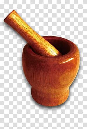 Mortar and pestle Kitchen Suribachi, Garlic mortar PNG