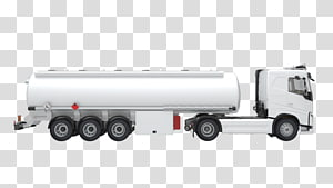 Semi-trailer truck Commercial vehicle Cargo Transport, tank truck PNG