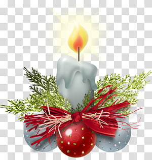 Candle Christmas decoration Santa Claus, Candle PNG