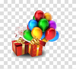 Balloon Birthday Party , Simple hot air balloon gift PNG