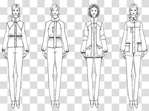 Drawing Clothing Fashion design Sketch, fashion line PNG