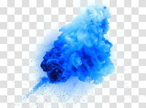 creative design blue smoke explosion PNG