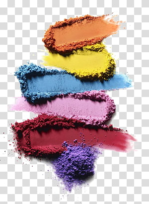 illustration of colored powder, Cosmetics Eye shadow Makeup brush Rouge Lipstick, Color eye shadow PNG clipart