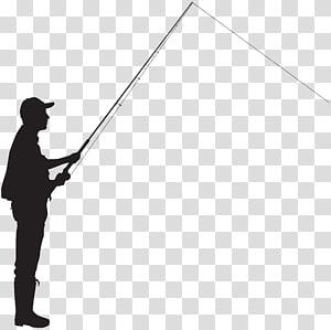 person holding fishing rod , Fisherman Silhouette Fishing , Fisherman Silhouette PNG clipart