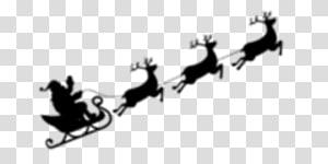 black elk santa sleigh PNG clipart