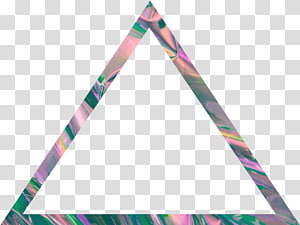 triangle multicolored illustration, Triangle Vaporwave Aesthetics, Aesthetic PNG