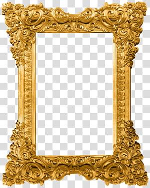 gold pattern frame PNG