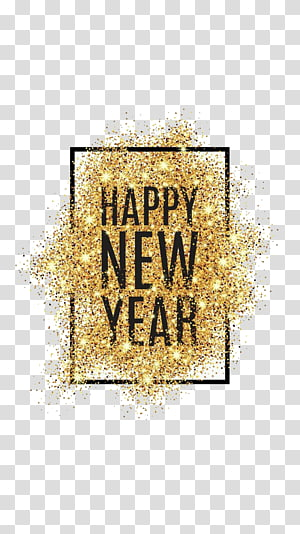 happy new year powder PNG clipart