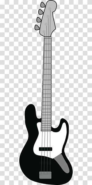 Fender Precision Bass Bass guitar Musical instrument, Black and white pattern electric guitar PNG