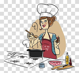 Cooking Illustration, Cooking girls PNG clipart