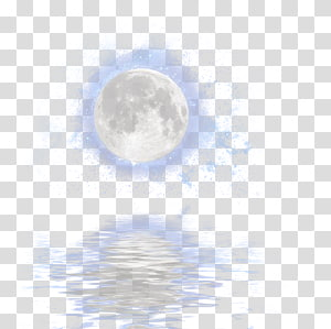 moon , Sky Blue Theme , Water moonlight reflection PNG clipart