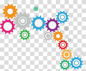 Color wheel Gear , gear PNG