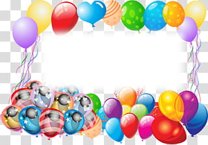 Birthday cake Greeting & Note Cards , birthday border PNG clipart