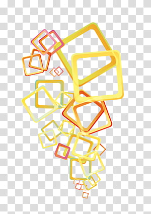 Transparency and translucency Euclidean , Yellow square frame PNG clipart
