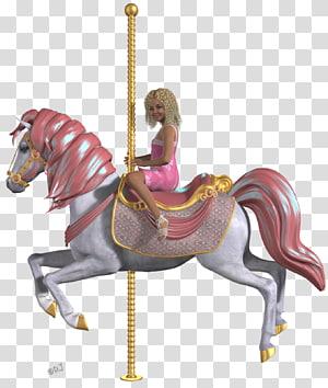 Horse Amusement park Pony Halter Carousel, horse PNG clipart