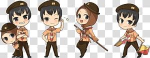 chibi anime characters illustration, Gerakan Pramuka Indonesia Scouting Child Anggota Pramuka, child PNG clipart