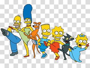 Homer Simpson Bart Simpson Lisa Simpson , qian yu PNG