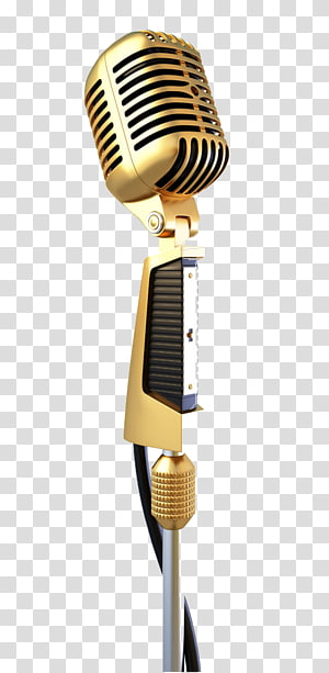 golden microphone station PNG