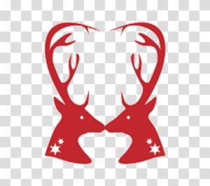 Wedding cake topper Deer, Red deer PNG clipart