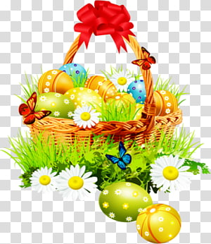 Easter Bunny Easter egg Easter basket, Easter PNG