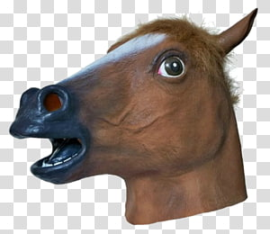 brown horse mask, Horse head mask Latex mask Costume, horse PNG clipart