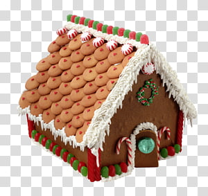 Gingerbread house Christmas Biscuits, christmas PNG