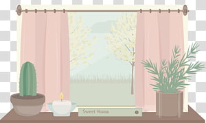 Window Cartoon Illustration, cartoon balcony PNG clipart