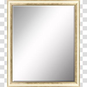 Frames Mirror Molding Silver Glass, beveled modern mirror designs PNG