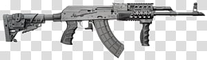 Izhmash Saiga semi-automatic rifle 7.62×39mm AK-47 , ak 47 PNG
