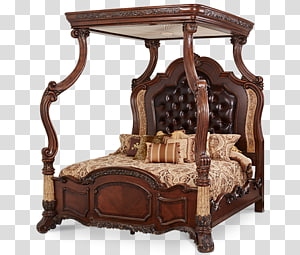 Bedside Tables Canopy bed Bedroom, table PNG