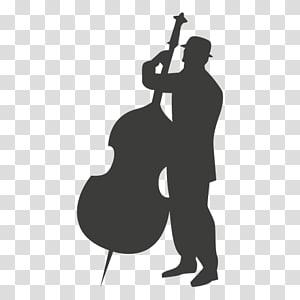 Cello Silhouette Musician Double bass, rock band live performances silhouettes PNG