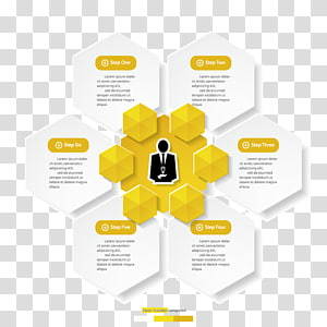 yellow and white step by step formula illustration, Graphic design Yellow Diagram, Yellow-white minimalist design infographic material PNG clipart