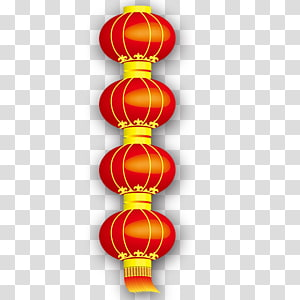 Chinese New Year Lantern Festival, New Year Spring Festival Chinese New Year red lanterns string PNG