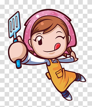 chef girl illustration, Cooking Mama 5: Bon Appxe9tit! Cooking Mama 4: Kitchen Magic COOKING MAMA Lets Cookuff01 Nintendo 3DS, Cooking PNG clipart