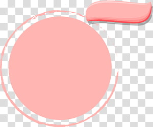pink simple circle frame PNG