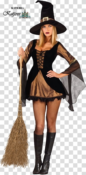 Halloween costume Halloween costume Witchcraft Dress, Halloween PNG