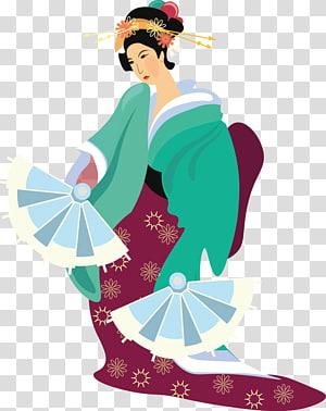 Japanese Woman, Kimono woman PNG
